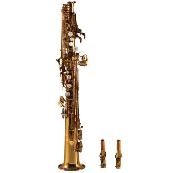 フランスのロレンスがB調のソプラノサックスを下して9902娯楽演奏の漆金の項を演奏します。